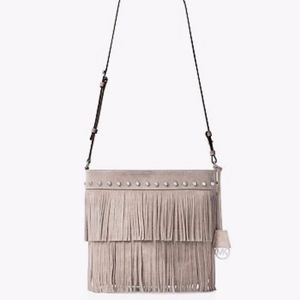 Michael Kors Billy Fringe Suede Shoulder Crossbody